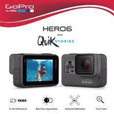 GoPro Hero 6 Black  รองรับการถ่ายวิดีโอ 4K ที่ 60 เฟรมต่อวินาที