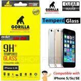 ราคา Gorilla Tempered Glass กอริลล่า ฟิล์มกระจกนิรภัย เต็มหน้าจอ For Iphone 5 5S Se ใส เป็นต้นฉบับ
