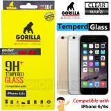 ราคา Gorilla Tempered Glass กอริลล่า ฟิล์มกระจกนิรภัย ไม่เต็มจอ For Iphone 6 6S ใส ใหม่ ถูก