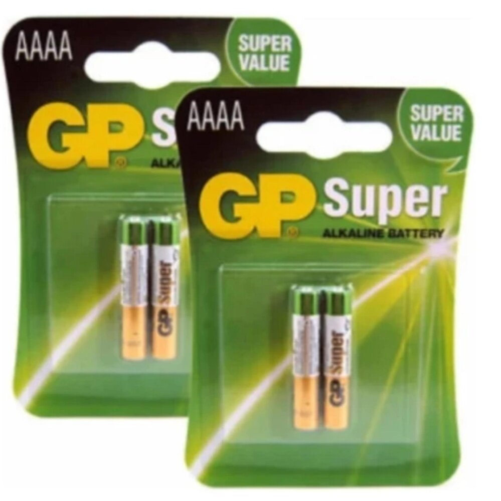 GP AAAA Alkaline Battery 4A,LR8D425,E96 (pack x 2) 2 แพ็ค
