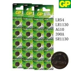 GP Batteries LR1130 (189, LR54, AG10,390A) Alkaline Button 1.5V (3 แพ็ค 30 ก้อน)