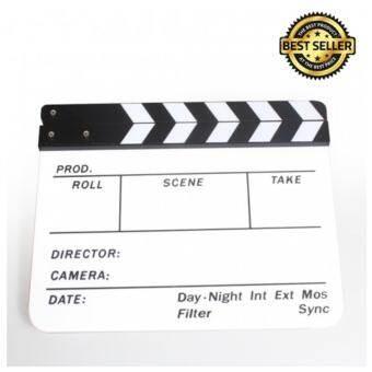 สเลทฟิล์ม Slate (รุ่น ขาว-ดำ) สเลทฟิล์มถ่ายหนัง สเลทหนัง Slate film clapper board สเลทฟิล์มถ่ายภาพยนต์ แคลปบอร์ด อะคริลิค acrylic glass สเลทสำหรับถ่ายหนัง ขนาด 30 cm.-