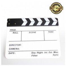 ราคา ราคาถูกที่สุด Green Plus สเลทฟิล์ม ขาว ดำ อะคริลิคแท้ Slate Film แคลปบอร์ดถ่ายภาพยนต์ Clapboard