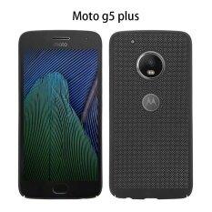 ซื้อ การป้องกันรังสีความร้อนแบบกริดการป้องกันพีซีแบบธรรมดากรณีปกคลุมสำหรับ Moto G5 พลัส สีดำ ใหม่