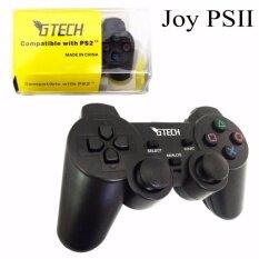 GTECH JOY Compatible With PS2 จอยใช้สำหรับเครื่อง เพลย์2 รุ่น Joy-04 (Black) สีดำ