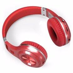 ราคา หูฟังแบบครอบหู H Plus หูฟัง หูฟังไร้สายบลูทู ธ สเตอริโอ V4 1 พร้อมช่องวิทยุ Fm ช่องเสียบการ์ด Tf ในตัวไมโครโฟน สีแดง Intl จีน