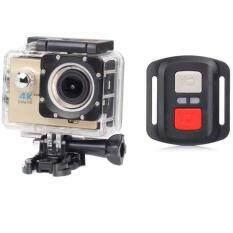 H16R Ultra HD 4K remote Action Camera GOLD 2.0' Screen WiFi 1080P/60fps 170D lens Helmet Cam go pro waterproof mini camera (SILVER) กล้องถ่ายวีดีโอสำหรับเล่นกีฬา ความระเอียด อัฟตราเอชดี 4K มาพร้อมรีโมท