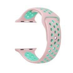 Haotop สำหรับ Apple นาฬิกาชุด 3 2 1 กีฬาสายรัดข้อมือสายคล้องคอซิลิโคนสายรัดข้อมือสายนาฬิกาทดแทนสำหรับ Apple นาฬิกา 42 มิลลิเมตรเอ็ม แอล นานาชาติ ถูก