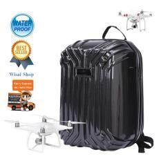 ขาย กระเป๋าเป้ Hardshell Backpack สำหรับ Phantom 3 Standard Advance Professional และ Phantom 4 Professional Professional Plus สีดำ เคฟล่า ถูก