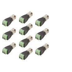 หัว BNC Balun (หัวแจ็ค) สำหรับกล้องวงจรปิด 16 ตัว(Green) แถม 2 ตัว
