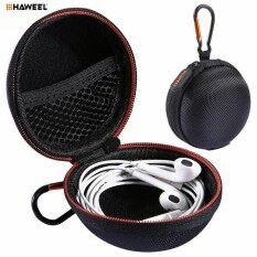 ขาย Haweel Portable Travel Bag Earphone Case Hard Eva Organizer Storage Zipper Pouch Headphone Sd Tf Card Cable Jewelry Container Intl เป็นต้นฉบับ