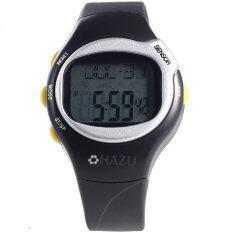 HAZU  นาฬิกาวัดชีพจร วัดแคลอรี่ (สีดำ)