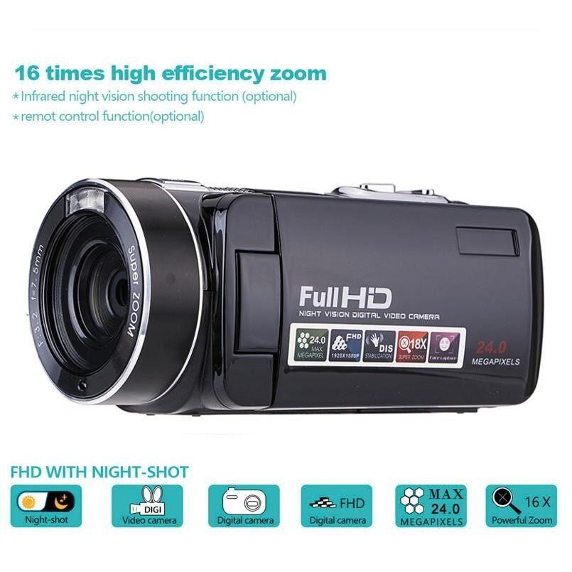 ขาย 1080 จุด 24Mp 18X Zoom 3 บันทึกภาพดิจิตอล Dv กล้องบันทึกภาพกล้องวิดีโอสีดำ นานาชาติ ผู้ค้าส่ง