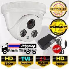 กล้องวงจรปิด โดม HD 1.4 MP ล้านพิกเซล กล้อง TVI เลนส์  4mm  ฟรีอะแดปเตอร์