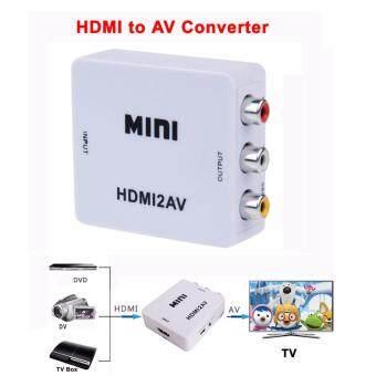 อุปกรณ์แปลงสัญญาณ HDMIเป็น AV สำหรับทีวีที่ไม่มีช่องเสียบ HDMI รองรับภาพคมชัดถึงระดับ 1080P (ใช้ร่วมกับ Dongle Miracast Mirascreen PTV Amazon Firestick และอื่นๆอีกมาก)