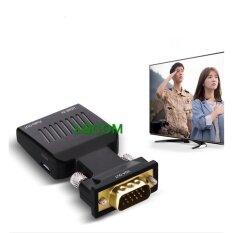 ซื้อ Hdmi Female To Vga Male Converter Audio Adapter Support 1080P Signal Output Black ใหม่ล่าสุด
