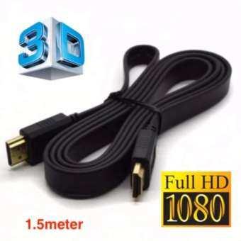 HDMI High Speed 1.5M 1080p 3D VER 1.4 สายแบบอ่อนแบนยาว 1.5เมตร (Black)
