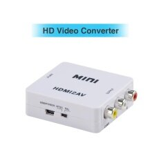 ทบทวน Hdmi To Av 1080P Hd Hdtv Video Audio Converter Box Adapter For Dvd Pc Laptop Intl