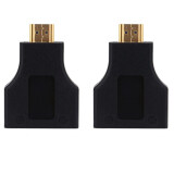 ทบทวน ที่สุด Hdmi To Dual Port Rj45 Network Cable Extender Over By Cat 5E 6 1080P Black