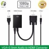 ราคา Hdmi ตัวแปลงสัญญาณ Vga To Hdmi With Audio Full Hd มีเสียงด้วย Black Hdmi ออนไลน์