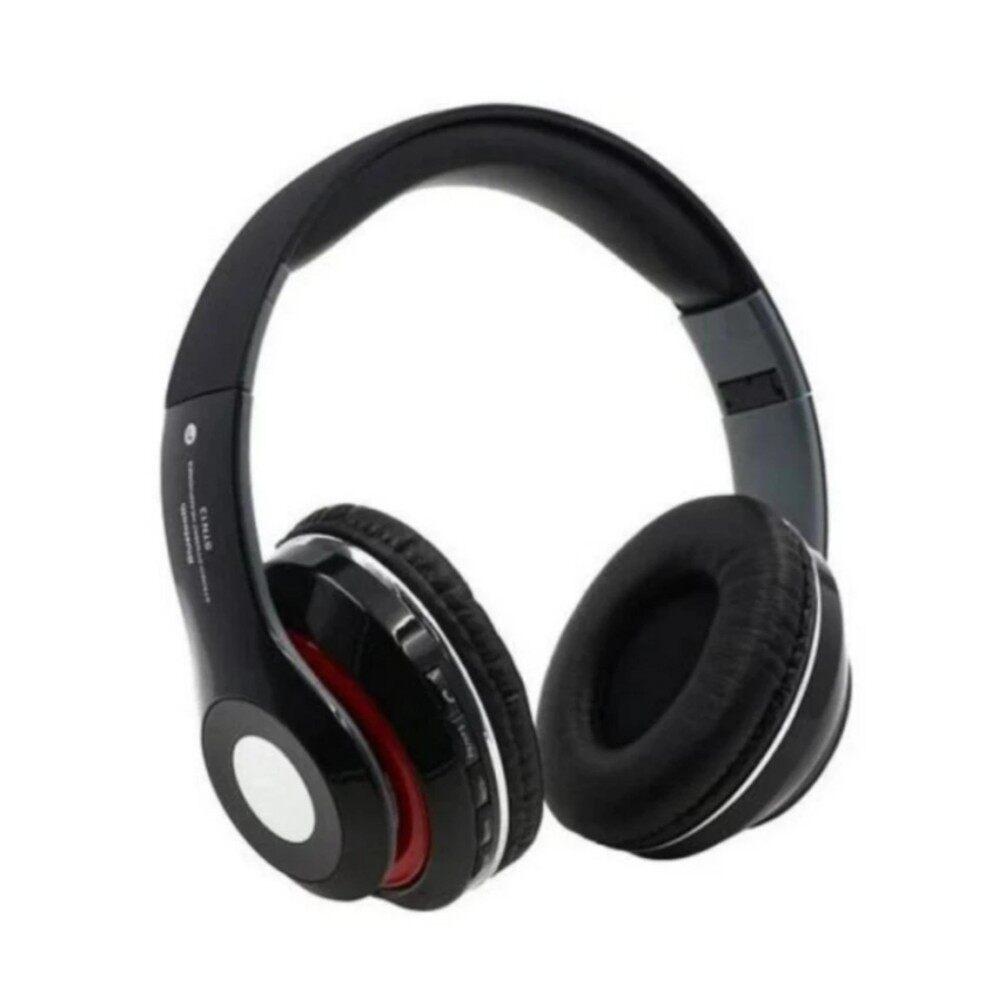 ขาย หูฟังบลูธูทแบบครอบหู เสียงสเตอริโอ ระดับHdรุ่นStn 13สีแดง ใหม่