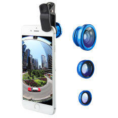 ราคา ราคาถูกที่สุด He Tu 3 In1 Fisheye Wide Angle Macro Camera Clip On Lens For Smart Phone