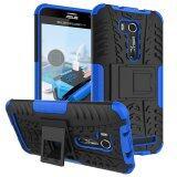 โปรโมชั่น Heavy Duty Rugged Hybrid Dual Layer Kickstand Shockproof Protective Case Cover For Asus Zenfone Go Zb551Kl 5 5 Case Blue Intl ถูก