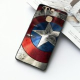ขาย Hero Captain America Shield Pattern Protection Phone Case High Quality Soft Tpu Case Cover For Huawei P9 Intl จีน