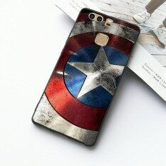 ขาย Hero Captain America Shield Pattern Protection Phone Case High Quality Soft Tpu Case Cover For Huawei P9 Intl ออนไลน์ ใน จีน