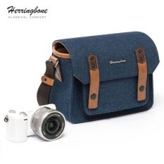 กระเป๋า Herringbone รุ่น Papas Pocket V3 Mini Navy ใน ไทย