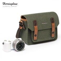 ขาย กระเป๋าHerringbone รุ่น Papas Pocket V3 Mini Olive Herringbone