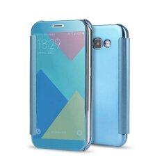 ส่วนลด Hicase Mirror Smart Clear View Window Flip Case Cover For Samsung Galaxy A7 2017 Blue Intl จีน