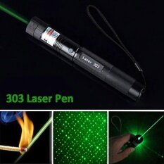 High Power 1mw 303 Green Pointer Laser Pen Adjustable Focus 532nm Burning - intl