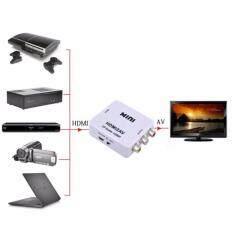 ขาย High Quality Mini Hd 1080P Hdmi 2Av Video Converter Box Hdmi To Rca Av Cvsb L R Video Support Ntsc Pal Output Hdmi To Av Adapter