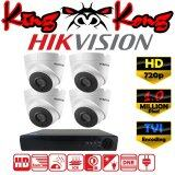 ราคา Hikvision ชุดกล้องวงจรปิดกล้อง 4Ch Cctv กล้อง 4ตัว โดม 1 Mp Hd และอนาล็อก เครื่องบันทึก 4ช่อง 1080N Dvr Nvr Ahd Tvi Cvi Analog Ds 2Ce56C0T It3 Hikvision