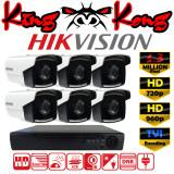 โปรโมชั่น Hikvision ชุดกล้องวงจรปิดกล้อง 8Ch Cctv กล้อง 6ตัว ทรงกระบอก 1 3 Mp Hd และอนาล็อก เครื่องบันทึก 8ช่อง 1080N Dvr Nvr Ahd Tvi Cvi Analog Ds 2Ce16C3T It3 ถูก