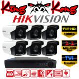 ราคา Hikvision ชุดกล้องวงจรปิดกล้อง 8Ch Cctv กล้อง 6ตัว ทรงกระบอก 2 Mp Full Hd และอนาล็อก เครื่องบันทึก 8ช่อง 1080P Dvr Nvr Ahd Tvi Cvi Analog Ds 2Ce16D1T It5 Hikvision กรุงเทพมหานคร