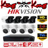 ซื้อ Hikvision ชุดกล้องวงจรปิดกล้อง 8Ch Cctv กล้อง 8ตัว ทรงกระบอก และโดม 1 Mp Hd และอนาล็อก เครื่องบันทึก 8ช่อง 1080N Dvr Nvr Ahd Tvi Cvi Analog Ds 2Ce16C0T It3 A Ds 2Ce56C0T It3 ใหม่