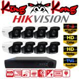ส่วนลด Hikvision ชุดกล้องวงจรปิดกล้อง 8Ch Cctv กล้อง 8ตัว ทรงกระบอก 1 3 Mp Hd และอนาล็อก เครื่องบันทึก 8ช่อง 1080N Dvr Nvr Ahd Tvi Cvi Analog Ds 2Ce16C3T It3 Hikvision