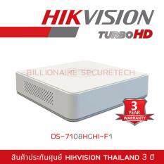 Hikvision DVR 8ch DS-7108HGHI-F1 white รองรับกล้องความละเอียดสูงสุดไม่เกิน 1 ล้านพิกเซล