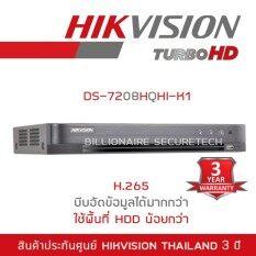 Hikvision DVR (เครื่องบันทึกกล้องวงจรปิด) 8ch DS-7208HQHI-K1