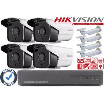 กล้องวงจรปิด Hikvision HDTVI 1 ล้านพิกเซล รุ่น DS-2CE16C0T-IT3    เครื่องบันทึกก 4 ช่อง XVR 720p