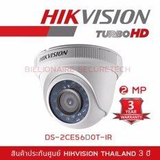 Hikvision HDTVI 1080P รุ่น DS-2CE56D0T-IR 2MP (3.6 mm)  ใช้กับเครื่องบันทึกที่รองรับกล้องระบบ HDTVI ความละเอียด 2 ล้านพิกเซลขึ้นไปเท่านั้น
