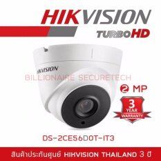 Hikvision HDTVI 1080P รุ่น DS-2CE56D0T-IT3  2MP (3.6 mm) ใช้กับเครื่องบันทึกที่รองรับกล้องระบบ HDTVI ความละเอียด 2 ล้านพิกเซลขึ้นไปเท่านั้น