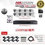 ขาย ชุดกล้องวงจรปิด Hikvision ระบบ Hdtvi รุ่น Ds 2Ce16D0T Ir 2Mp Infared 20 เมตร Lens 3 6 Mm และเครื่องบันทึก Turbo Hd Dvr รุ่น Ds 7208Hqhi F1 8 Chanal พร้อม Harddisk Wd Purple 1 Tb ฟรี Adaptor 12V2A X 8 Dcตัวผู้ X 8 Bnc F Type X 16 สายHdmi X 1 ออนไลน์ ไทย