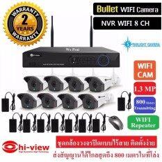 Hiview กล้องวงจรปิดไร้สาย WIFI IP CAM 8 CH