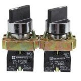 Hks 2Pcs 10A 2 Position No Nc Maintained Rotary Selector Switch Xb2 Bd21C Intl ถูก