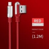 ราคา Hoco 2 4A Zinc Alloy 90 Degree Type C Usb Capsule Shape Charging Date Cable 1 2M Intl ใหม่ล่าสุด