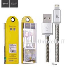 Hoco U5 สายชาร์จสปริง Usb Lightting Iphone Ipad 1M Metal Spring Bullet Cable สีเงิน ใหม่ล่าสุด