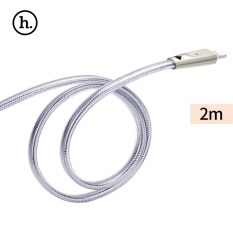 ขาย Hoco Upl9 2 4A Zinc Alloy Jelly Texture Braided Transfer Data Synchronization Charging Cord With Light For Iphone 2M Silver Intl